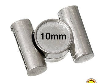 1 cabochon 10mm opening 15x3mm magnet clasp