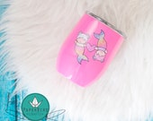 Merbaby 16 oz Pink PaperBird:crafts Insulated cup