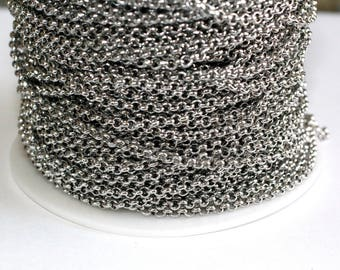15ft Stainless Steel Rolo 3mm- Chain Links