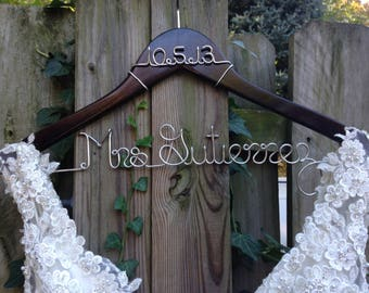 RESERVED LISTING  RUSH  Wedding Dress Hanger with Date,