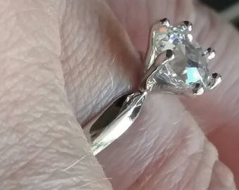 Old European Cut Solitaire Engagement Ring