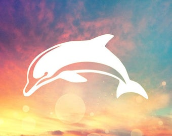 Dolphin Decal Etsy - Custom vinyl decals hawaii