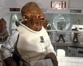 Star Wars - Admiral Ackbar costume and props