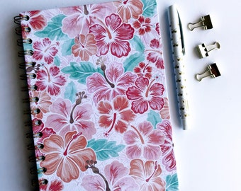 Floral Pattern A5 Notebook