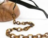 Tortoise Shell Glasses Chain; eyeglass chain; reading glasses necklace holder; glasses leash; reading glasses holder; spectacles holder