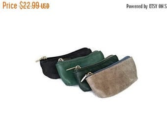 ON SALE Leather Pouch, Small Leather Bag, Coin Bag, Cosmetic Purse, Handmade Bags, Trendy Bags, Martha