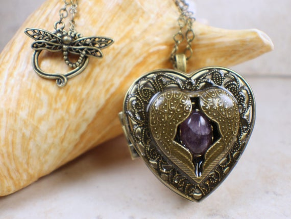 Angel wing music box locket music box locket music box like this item aloadofball