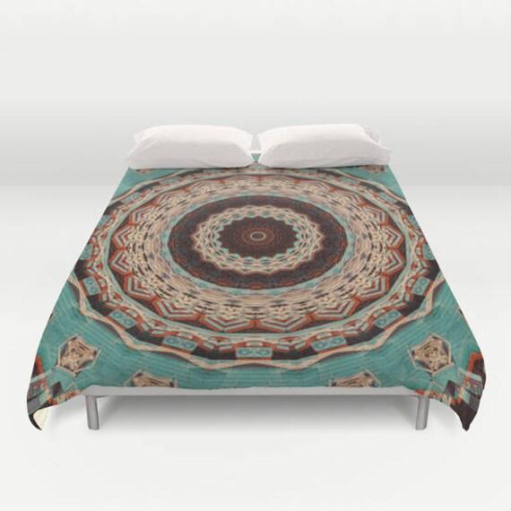 Duvet Cover, Southwest Mandala, King Duvet, Queen Duvet Cover, Duvet, Bedspread, Abstract Art, Photography, Home Decor, Housewarming Gift
