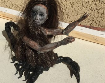 OOAK Scorpion Doll - Creepy Horror Unique Art Scorpion Doll
