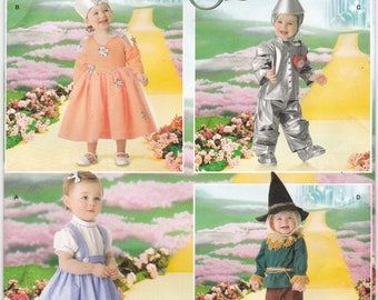 FF Simplicity 4024 Sewing Pattern, Wizard of Oz Costume with Dorothy Tin Man Scarecrow, Halloween Costume, Sizes 1/2 1 2 3 4, UNCUT