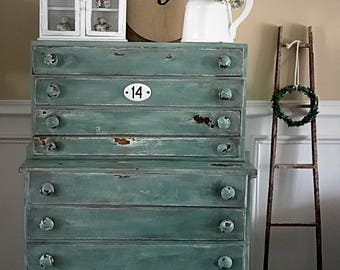 Vintage Tool Chest, Upcycled Tool Chest, Farmhouse Chest, Vintage Industrial, Storage Drawers, Pick Up Only