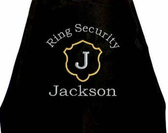 Super Hero Cape  Ring Bearer Shield  Embroidered Ring Bearer Cape Personalized Wedding Photo Op