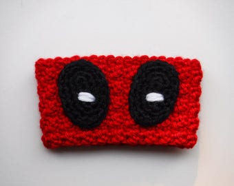 Crochet Deadpool Coffee Cup Cozy