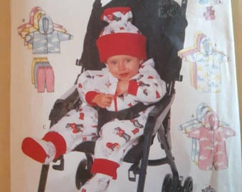 Butterick 5850, Infant's Jacket, Bunting, Leggings, Hat, and Booties Pattern