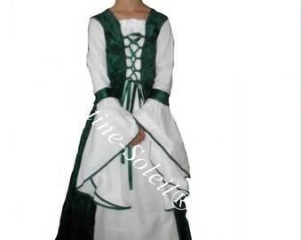 Dress medieval Queen of the Valley to measure from 8 to 12 years, the choice of colors.