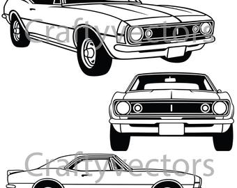 Chevrolet Camaro 1966-68 Vector File
