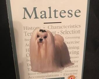 Vintage Maltese Book 1997 Dog Book