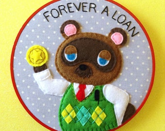 Animal Crossing Tom Nook Embroidery
