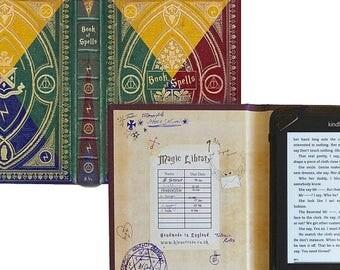 20% OFF SALE Harry Potter Hogwarts House Themed Kindle Case - Book of Spells