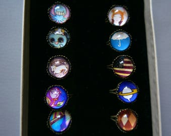 SALE!!!Set of 10 rings