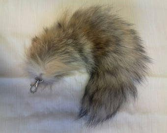 Fox Fur Tail on clip - Natural Red
