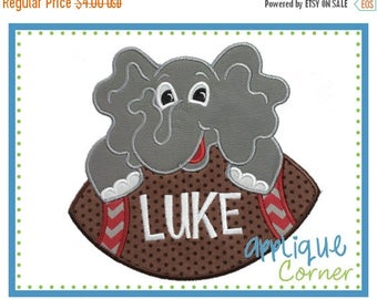50% Off INSTANT DOWNLOAD Elephant on Football applique digital design for embroidery machine by Applique Corner