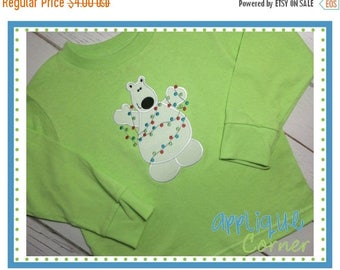 40% OFF INSTANT DOWNLOAD Polar Bear Funny with Lights applique design in digital format for embroidery machine by Applique Corner