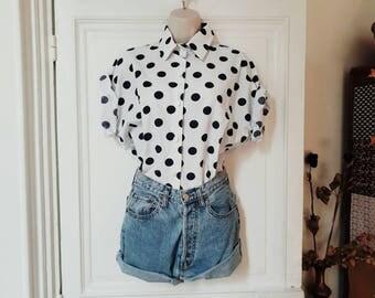 Polka dots vintage blouse