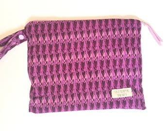 Purple Hearts Wetbag Reusable Eco Friendly Waterproof Zippered Pouch