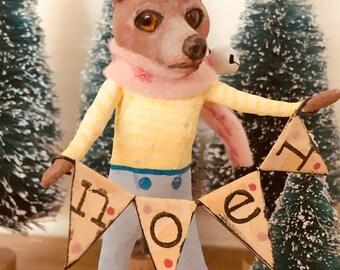 Collector's item, handgemaakte, Mr.Bear, cupcakebears, kerstboom decoratie