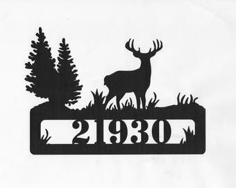 Address Sign, Cabin Sign, Wildlife Sign, Cabin Decor, Porch Decor, Metal Sign, Custom Sign, Personalized Sign, Porch Sign, House Sign