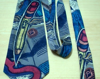 FREE SHIPPING! The Beatles Paperback Writer silk necktie