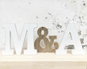 Initials with & Wooden-MODERN STYLE