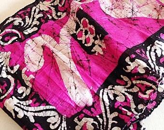 Vintage Indian Silk Batik Gypset Scarf