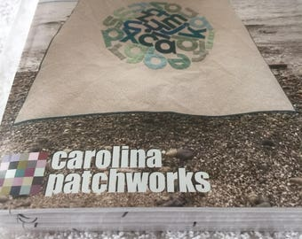 """Paper Pattern for a quilt called Circular Reasoning by Carolina Patchworks 75"""" square"""