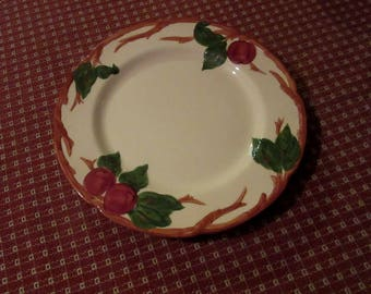 Franciscan apple four (4) large dinner plates, made in California