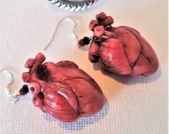 """Earrings """"realistic pink heart earrings"""