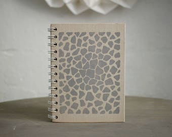 """Spiral Bound Notebook Tartuensis College """"Apples"""" Recycled Book"""