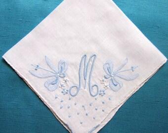 Handkerchief Initial M, F, H, E or A