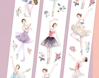 1 Roll of Limited Edition Washi Tape: Ballet Girls