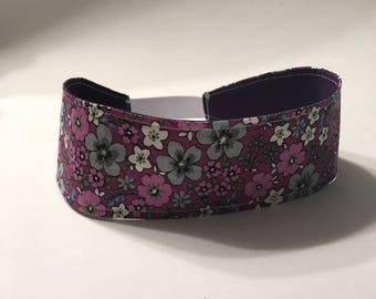 Purple Floral Reversible Headband