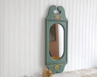 vintage green mirror painted wall mirror dutch mirror hallway mirror bathroom