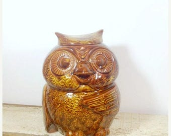 SUMMER SALE Vintage 1970's Owl Nelson McCoy Cookie Jar