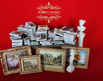 Dollhouse miniature awesome set of 25/50/70 art's books