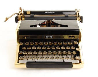 Gold Typewriter, Royal Quiet DeLuxe