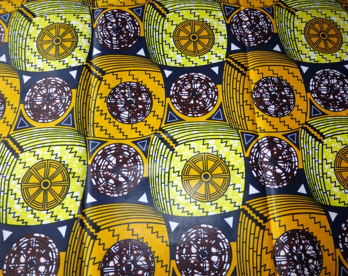 The African Fabrics Super Wax Print Cotton Fabrics For Dress &Craft Making Sewing Fabric/Kitenge/Pagnes/Kikwembe /Chitenge Sold By Yard