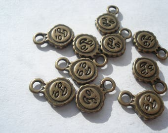 11.5mm Zinc Alloy Charms, Antique Bronze Tone Tibetan Sun Charms, Lead, Cadmium and Nickel Free, Pack of 25 Sun Charms, C364