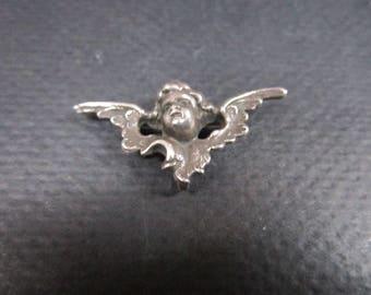 Sterling Silver Angel Cherub brooch