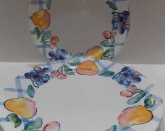 """7 Corelle """"Fruity Too"""" Dinner Plates 10 1/4"""" Dinnerware"""