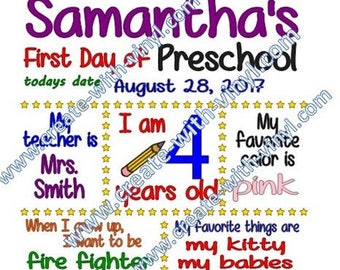 First Day of School SVG - File for school day sign - Silhouette Cameo Cricut cut file
